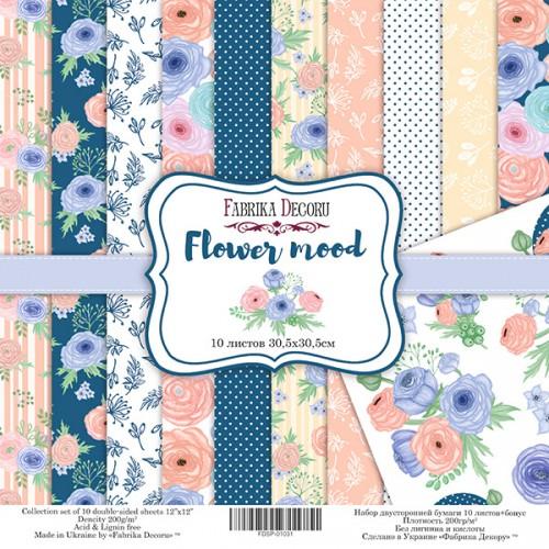 "Набор скрапбумаги ""Flower mood"" 30,5x30,5 см Фабрика Декору фото"