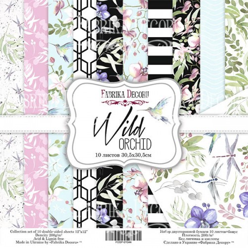 "Набор скрапбумаги ""Wild Orchid"" 30,5x30,5см Фабрика Декору фото"