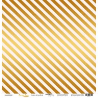 """Лист односторонней бумаги с золотым тиснением Every Day Gold """"Golden Stripes Pink"""" 30x30 от Scrapmir"""