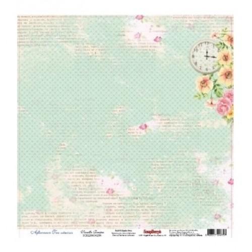 Лист односторонней бумаги Vanilla Resipes из коллекции Afternoon Tea 30*30 см, Scrapberry's