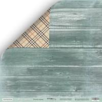 """Лист двусторонней бумаги Nordic Spirits """"Зелёное дерево"""" от ScrapMir, 30x30 см"""