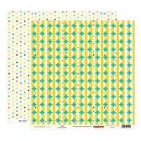 Лист двусторонней бумаги из коллекции Лето Звезды 30Х30 см Scrapberry's