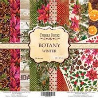 "Набор скрапбумаги ""Botany Winter"" 20 Х 20 см, Фабрика Декору"