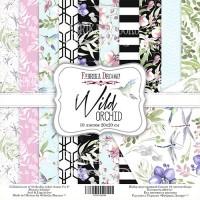 "Набор скрапбумаги ""Wild Orchid"" 20x20см, Фабрика Декору"
