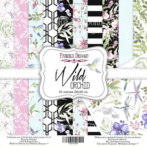 "Набор скрапбумаги ""Wild Orchid"" 20x20см Фабрика Декору фото"