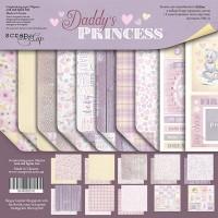 Набор двусторонней бумаги Daddy's Princess 20х20см от Scrapmir