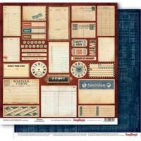 Лист бумаги из коллекции WORDS LIVE FOREVER 30Х30 см MEMOS Scrapberry's