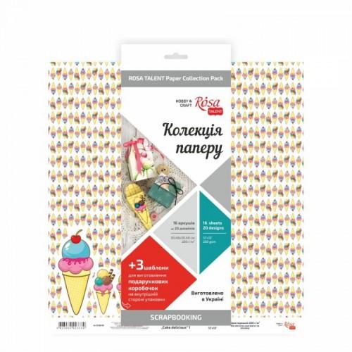 купить набор бумаги для скрапа Cake delicious 30х30 см ROSA Talent