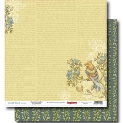 """Лист двухсторонней бумаги """"Волшебство"""", коллекция """"Сказка про Фей"""" 30х30 см ScrapBerry's"""