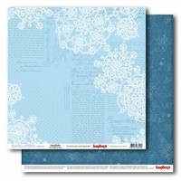 """Лист двусторонней бумаги """"Однажды зимой - Морозные узоры"""" 30,5x30,5 ScrapBerry's"""
