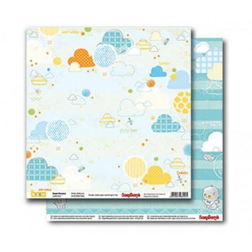 """Бумага для скрапбукинга """"Sweet Dreams - Pretty Balloons"""" 30,5x30,5 ScrapBerry's"""