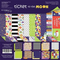 Набор двусторонней бумаги Ticket to the Moon 20х20см от Scrapmir