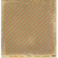 Лист односторонней бумаги Ритмика 30x30 см из коллекции Christmas Night от Scrapmir