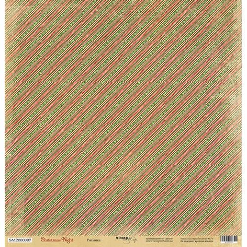 Лист односторонней бумаги Ритмика 30x30 см из коллекции Christmas Night от Scrapmir фото