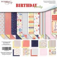 Набор двусторонней бумаги Birthday Party 20х20см от Scrapmir