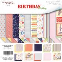 Набор двусторонней бумаги Birthday Party 30х30см от Scrapmir
