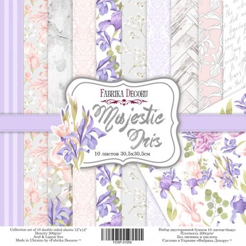 "Набор скрапбумаги ""Majestic Iris"" 30,5x30,5см Фабрика Декору фото"