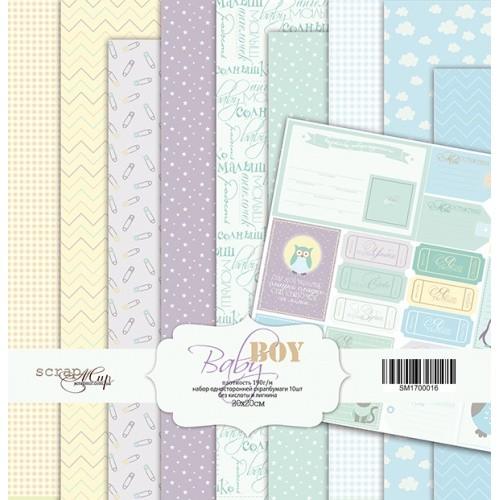 Набор односторонней бумаги Baby Boy 20х20см от Scrapmir фото