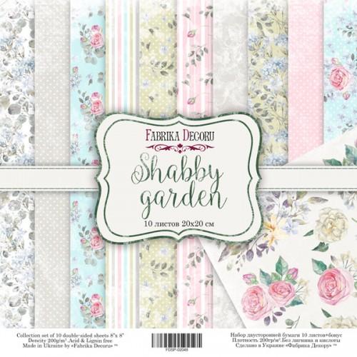 "Набор скрапбумаги ""Shabby garden"" 20 Х 20 см Фабрика Декору фото"