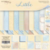 Набор двусторонней бумаги Little Bear 20х20см от Scrapmir