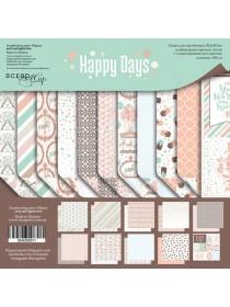 Набор двусторонней бумаги 30х30см Happy Days 10шт от Scrapmir