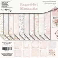 Набор двусторонней бумаги Beautiful Moments 30х30см от Scrapmir