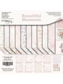 Набор двусторонней бумаги 30х30см Beautiful Moments от Scrapmir