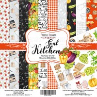 "Набор скрапбумаги ""Soul Kitchen"" 30,5x30,5см, Фабрика Декору"