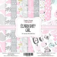 "Набор скрапбумаги ""Scandi Baby Girl"" 30 Х 30 см, Фабрика Декору"