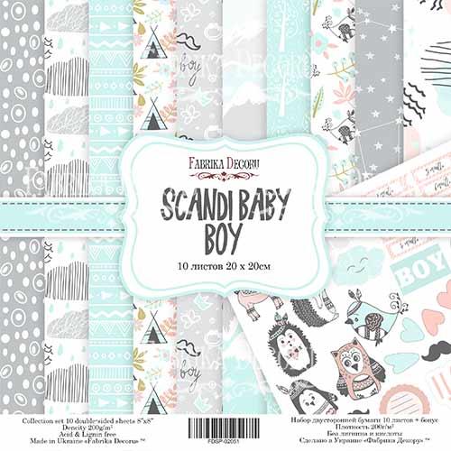 "Набор скрапбумаги ""Scandi Baby Boy"" 20 Х 20 см Фабрика Декору фото"