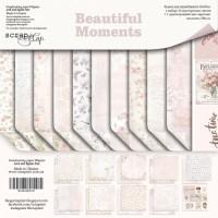 Набор двусторонней бумаги Beautiful Moments  20х20см от Scrapmir