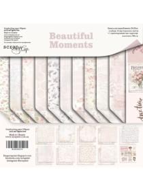 Набор двусторонней бумаги 20х20см Beautiful Moments от Scrapmir