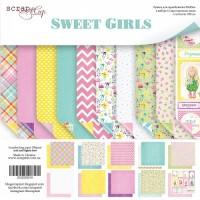 Набор двусторонней бумаги Sweet Girls 20х20см от Scrapmir
