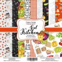 "Набор скрапбумаги ""Soul Kitchen"" 20x20см, Фабрика Декору"