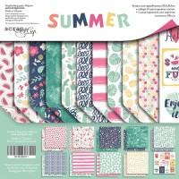 Набор двусторонней бумаги Summer 30х30 см от Scrapmir