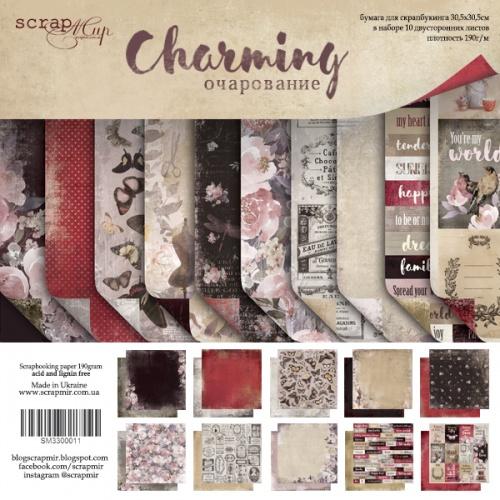 Набор двусторонней бумаги Charming (Очарование) 30х30см от Scrapmir