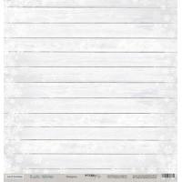 Лист односторонней бумаги 30x30 от Scrapmir Изморозь из коллекции Rustic Winter