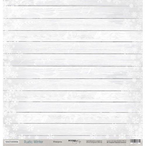 Лист односторонней бумаги Изморозь из коллекции Rustic Winter от Scrapmir, 30*30 см фото