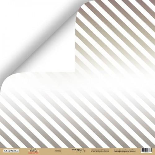 Лист двусторонней бумаги Холод из коллекции Hello Christmas от Scrapmir, 30*30 см