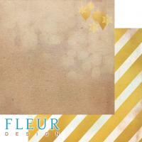 Лист двусторонней бумаги Елочные игрушки из коллекции Волшебный лес от Fleur Design, 30*30 см