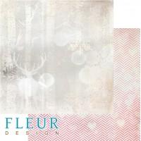 Лист двусторонней бумаги Лесной олень из коллекции Волшебный лес от Fleur Design, 30*30 см