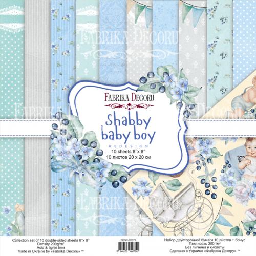 "Набор скрапбумаги ""Shabby baby boy redesign"" 20x20см Фабрика Декору фото"