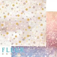 Лист двусторонней бумаги Снежное сияние из коллекции Волшебный лес от Fleur Design, 30*30 см