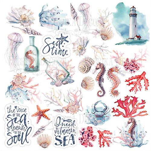 """Лист с картинками для вырезания """"Sea soul"""" Фабрика Декору"""