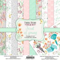 "Набор скрапбумаги ""scent of spring"", 30,5см х 30,5 см, Фабрика Декора"