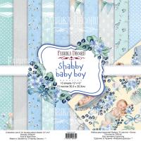 "Набор скрапбумаги ""Shabby baby boy redesign"" 30,5x30,5см Фабрика Декору"