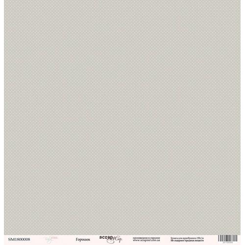 Лист односторонней бумаги Горошек из коллекции Baby Girl от Scrapmir, 30*30 см