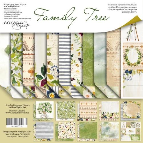 Набор двусторонней бумаги Family Tree 20х20см от Scrapmir, фото