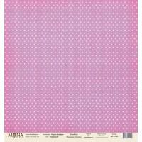 """Лист односторонней бумаги """"Лиловый"""", Горох базовая 30x30 от Mona design"""
