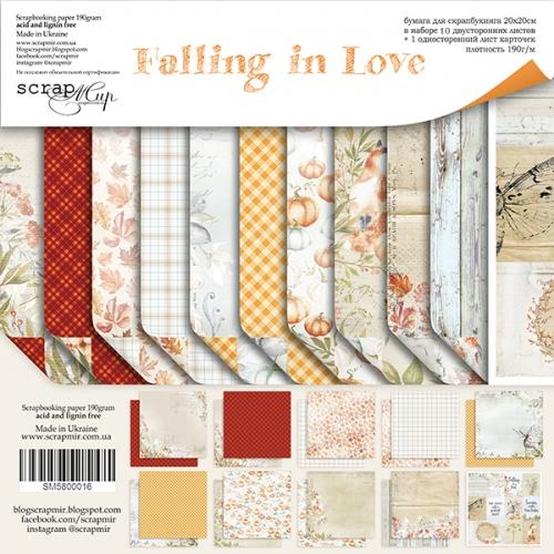 Набор двусторонней бумаги Falling in Love 20х20см от Scrapmir